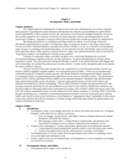 POLS 1090 Chapter Notes - Chapter 1: Ecological Footprint, Anti-Imperialism, Walt Whitman Rostow