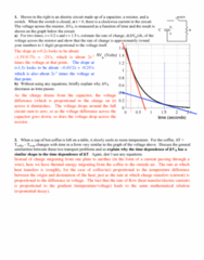 PHY 7B Study Guide - Quiz Guide: Electrical Network, Exponential Decay