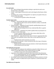 PSYC 3480 Study Guide - Midterm Guide: Peggy Mcintosh, Canadian Psychological Association, Liberal Feminism