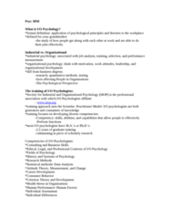 PSYC 3050 Study Guide - Army Alpha, Performance Appraisal, Job Performance
