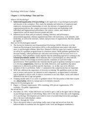 PSYC 3050 Study Guide - Midterm Guide: Walter Dill Scott, American Psychological Association, Harcourt Assessment