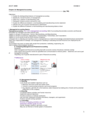 ACCT 2000 Study Guide - Midterm Guide: Chief Financial Officer, Direct Labor Cost, Management Accounting