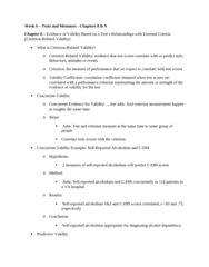 PSYC 3020 Lecture Notes - Lecture 6: Alcoholism, Discriminant, Nomological Network
