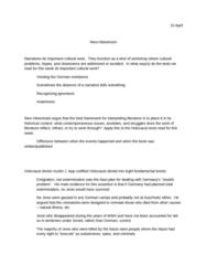 E 405 Lecture Notes - Deborah Lipstadt, New Historicism, Elmo Roper