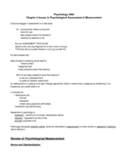 PSYC 3083 Study Guide - Psychological Testing, Payphone, Agoraphobia