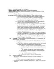PSYC 2000 Study Guide - Eleanor Rosch, Animal Communication, Mental Model