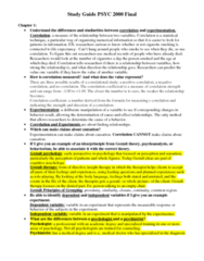 PSYC 2000 Study Guide - Final Guide: Cognitive Psychology, Asperger Syndrome, Time Perception