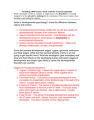 PSYC 2000 Study Guide - Midterm Guide: Fallopian Tube, Prenatal Development, Fetal Alcohol Spectrum Disorder