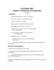 PSYC 3083 Study Guide - Schizophrenia, Adrenocorticotropic Hormone, Person-Centered Therapy