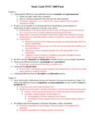 PSYC 2000 Study Guide - Final Guide: Parasympathetic Nervous System, Peripheral Nervous System, Central Nervous System