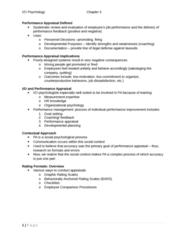 PSYC 3050 Study Guide - Performance Appraisal, Job Performance, Public Address System