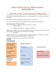 COMM 222 Study Guide - Midterm Guide: Job Performance, Perceived Organizational Support, Time In Indonesia