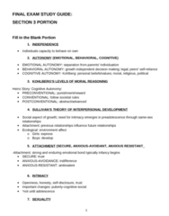PSYC 2078 Study Guide - Final Guide: Personality Disorder, Preadolescence, Safe Sex