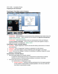 PSYC 2000 Study Guide - Final Guide: Psychological Testing, Psychosexual Development, Endorphins