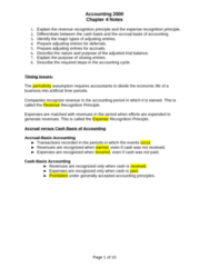 ACCT 2000 Chapter Notes - Chapter 4: Accounting Information System, Trial Balance, Income Statement