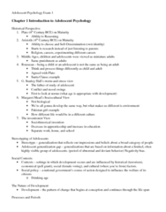 PSYC 2078 Study Guide - Midterm Guide: Lev Vygotsky, Neurotransmitter, Menarche
