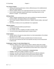 PSYC 3050 Study Guide - Conscientiousness, Job Performance