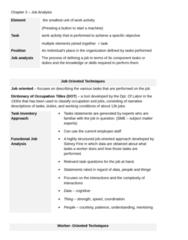 PSYC 3050 Chapter Notes - Chapter 3: Job Evaluation, Paq, Job Analysis