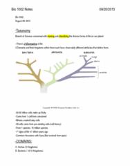 Bio 1002 Notes (scored 92%)