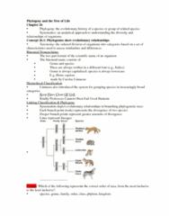 BIOL 1002 General Biology Ch 26 Ch 28 Test 2