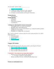BIOL 1002 Study Guide - Midterm Guide: Chlorophyta, Kinetoplast, Plastid