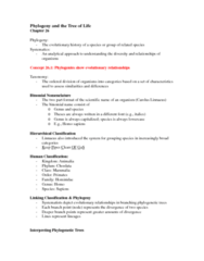 BIOL 1002 Study Guide - Midterm Guide: Chordate, Polyphyly, Railways Act 1921