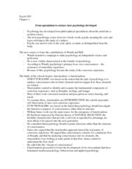 PSYC 1001 Chapter Notes - Chapter 1: Behaviorism, Psychometrics