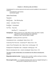 Economics 1022A/B Study Guide - Price Level, Structural Unemployment, Human Capital