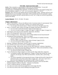 PSYC 1001 Study Guide - Final Guide: Procedural Memory, Semantic Memory, Connectionism