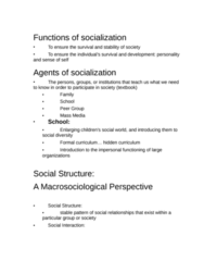 SOC 1101 Study Guide - Midterm Guide: Microsociology, Natural Disaster, Impression Management