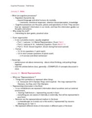 PSYC 309 Study Guide - Midterm Guide: Cheeseburger, Vestibular System, Semantic Dementia