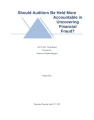 ACCO 400 Study Guide - Final Guide: Internal Control, Public Company Accounting Oversight Board, John Molson