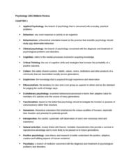 PSYC 1001 Study Guide - Midterm Guide: Dic Entertainment, B. F. Skinner, Sorne