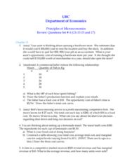 ECON 101 Study Guide - Westjet, Demand Curve, Nash Equilibrium