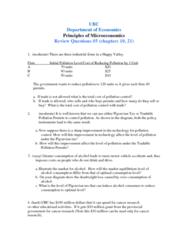 ECON 101 Study Guide - Pigovian Tax, Overconsumption, Budget Constraint