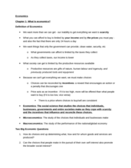 Economics 1022A/B Study Guide - Retained Earnings, Environmental Quality, Final Good