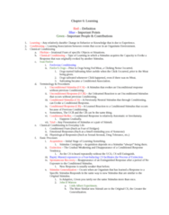 PSYC 1001 Study Guide - Operant Conditioning Chamber, Observational Learning, Contiguity