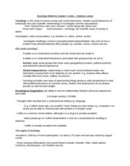 SOC 1101 Study Guide - Midterm Guide: Auguste Comte, Sociological Perspectives, Montesquieu