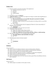 SOC 1101 Study Guide - Final Guide: Gender Role, Cascina Increa, Oil Depletion