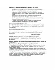 POLS 1090 Study Guide - Final Guide: Labour Power, Capital Accumulation, Aggregate Demand