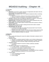 MGAD10H3 Chapter Notes - Chapter 4: Audit Risk, Financial Statement, Net Income