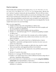 MATH 157 Study Guide - Final Guide: Logarithmic Differentiation