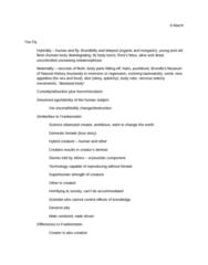 E 350 Study Guide - Final Guide: Body Odor, Claustrophobia, Hybridity