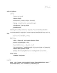E 350 Lecture Notes - Julia Kristeva, Grotesque Body, Pus