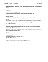 PSYC 1010 Study Guide - Testng, Standard Deviation, Point Estimation