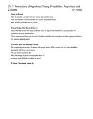 PSYC 1010 Study Guide - Quiz Guide: Standard Deviation, Central Limit Theorem, Percentile Rank