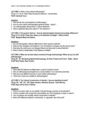 ANTH 1120 Lecture Notes - West African Vodun, Origin Myth, Karen Mccarthy
