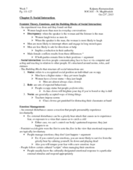 SOCA01H3 Chapter Notes -Basic Norm, Impression Management, Social Exchange Theory