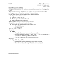 SOCA01H3 Chapter Notes -Fixed Cost