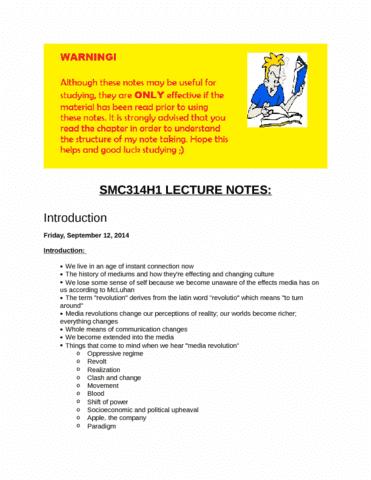 smc314h1-lecture-notes-introduction-docx